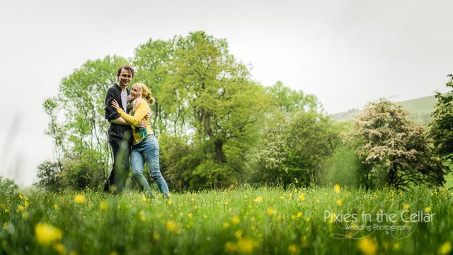 couple in Peak District field