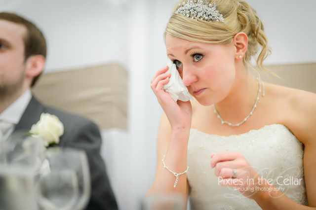 crying bride wedding speeches