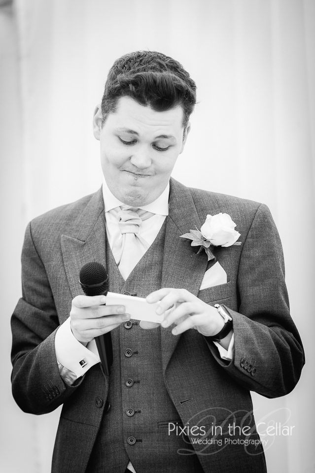 best man giving wedding speech