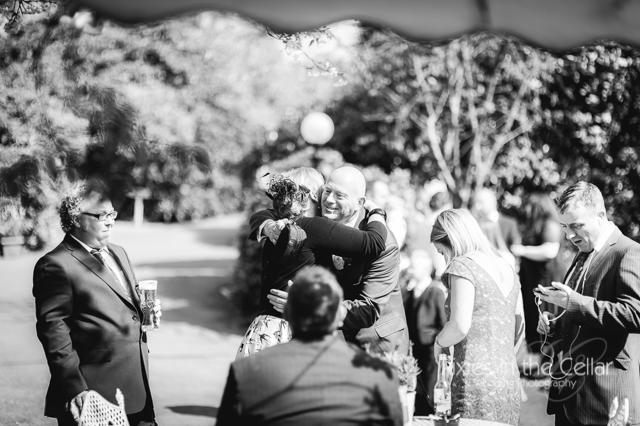 wedding guests spring sunshine