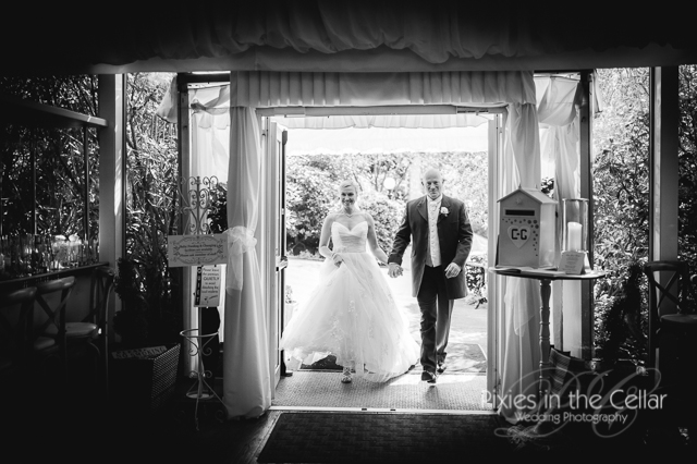 entering marquee at crow hill cottages