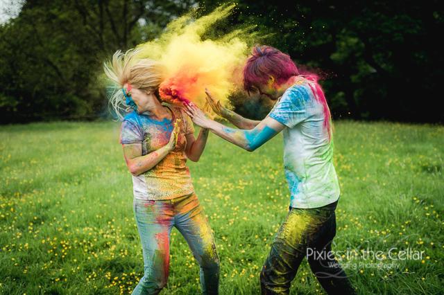 Colour engagement shoot Derbyshire Peak District photographer