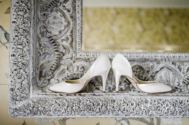 Wedding shoes Eaves Hall wedding