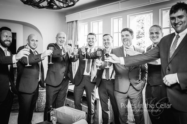 Groomsmen Lancashire wedding drinks