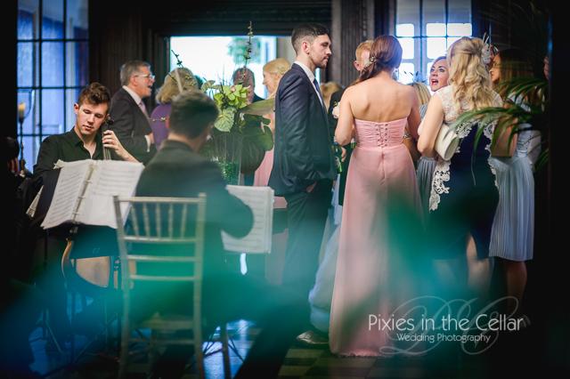 Eaves Hall wedding drinks reception