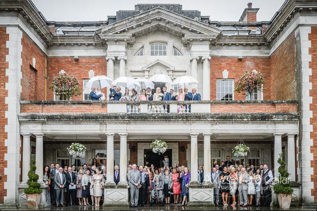 Eaves Hall Rainy wedding