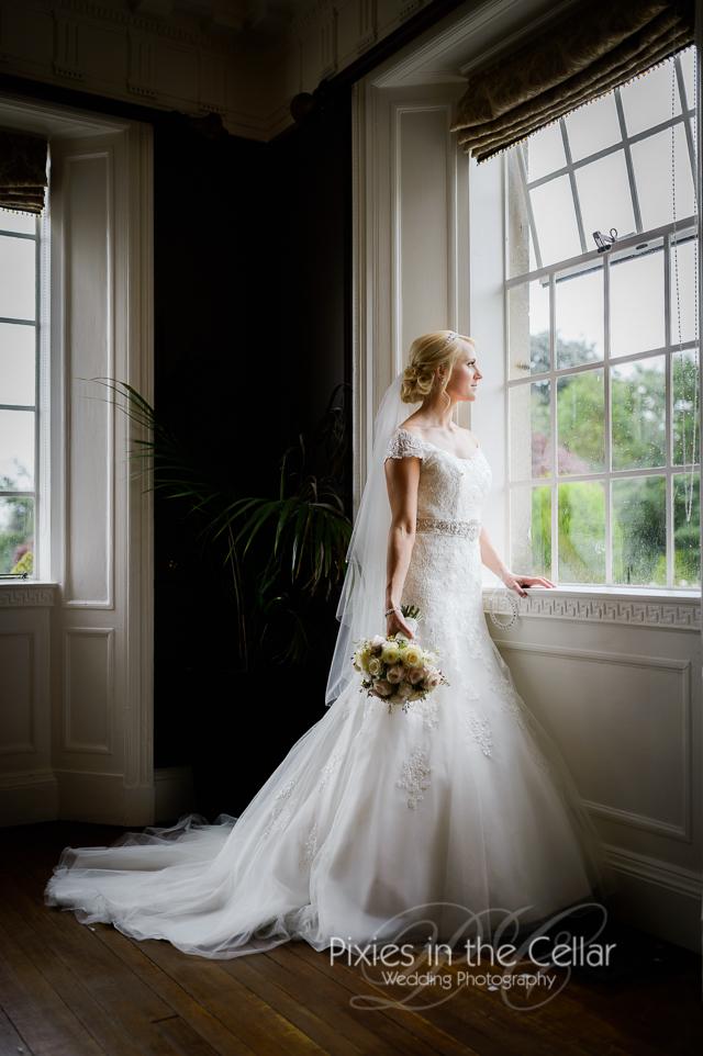 Eaves Hall Wedding Classic bride