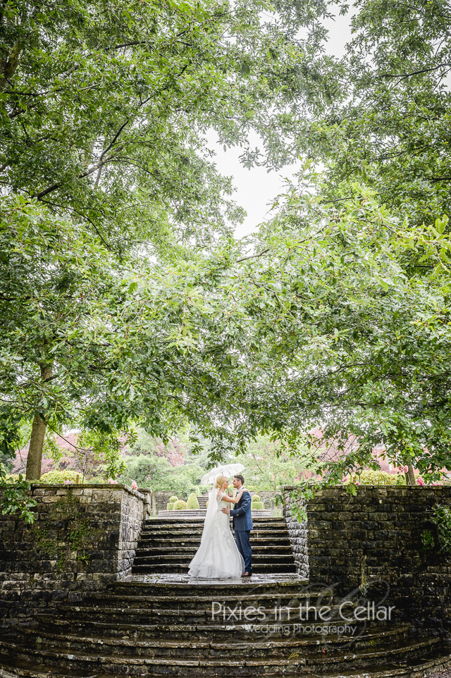Eaves Hall Wedding Rainy
