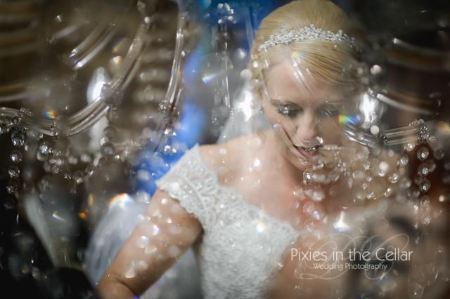 Artistic bridal shot Manchester wedding photographer