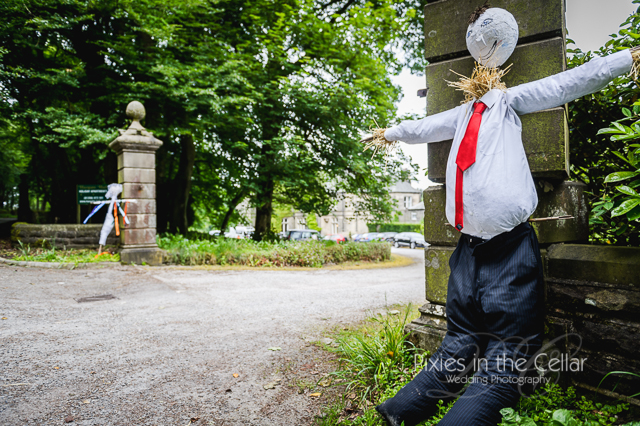 Hargate Hall Peak District Wedding Scarecrows