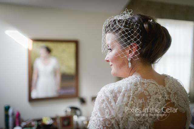 Manchester wedding DIY bird cage veil
