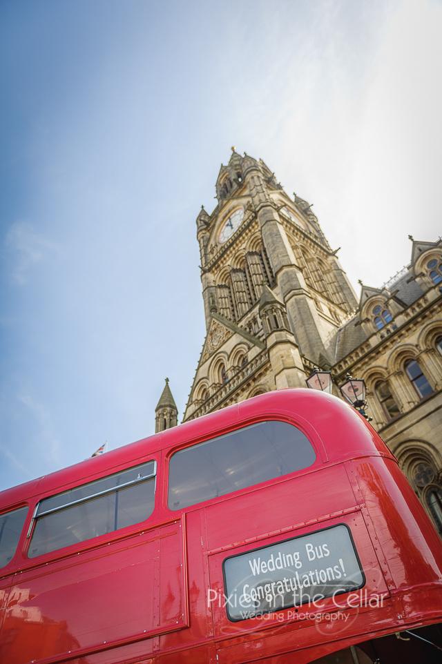 Manchester wedding bus