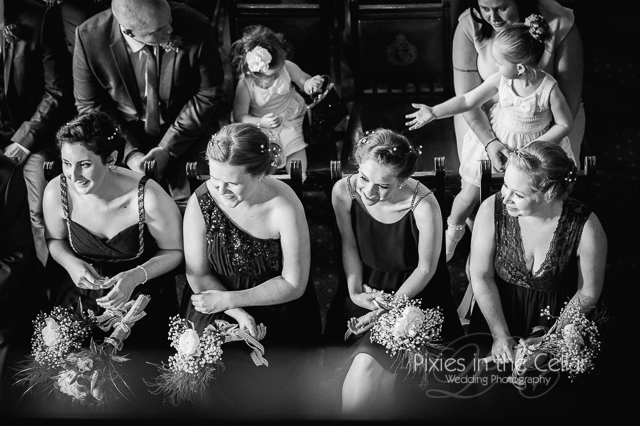 Manchester Town Hall Wedding bridesmaids
