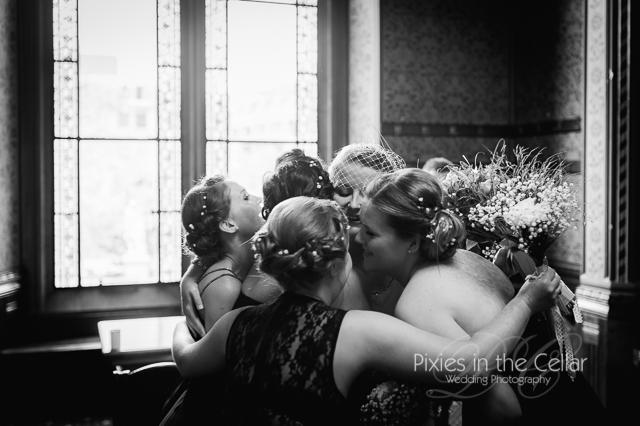 Manchester Wedding hug