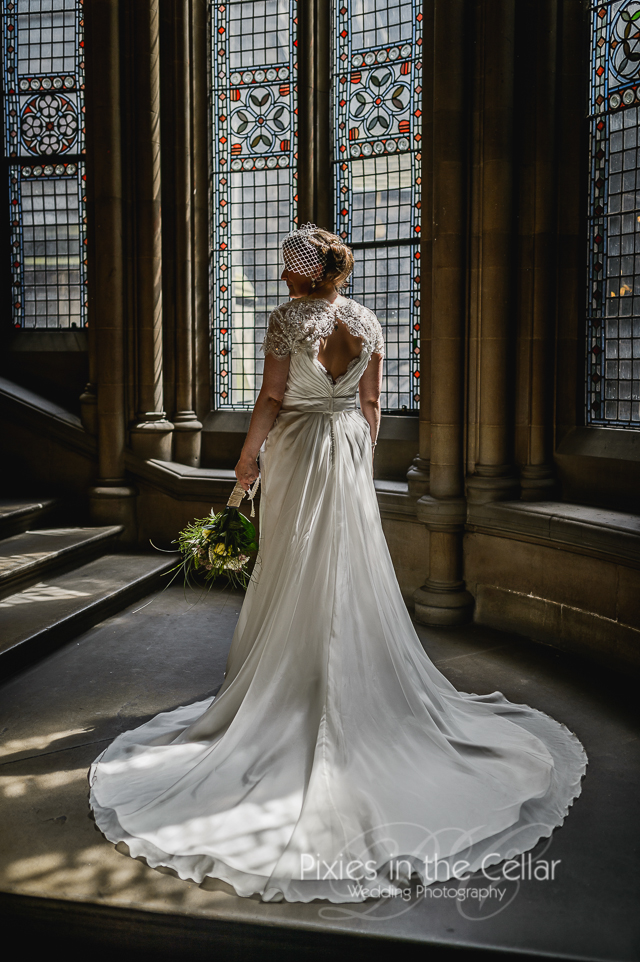 Manchester Town Hall- wedding dress