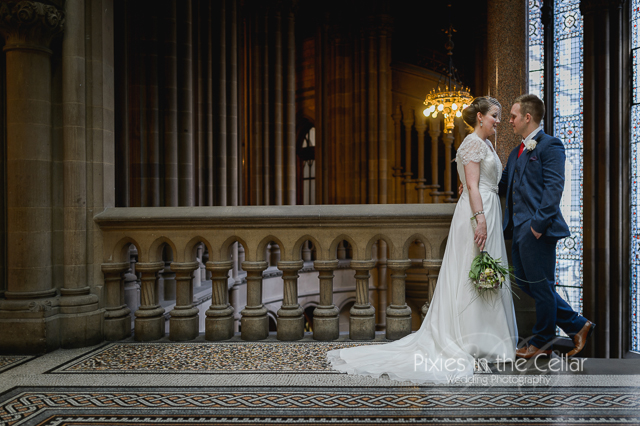 Manchester Town Hall bride and groom