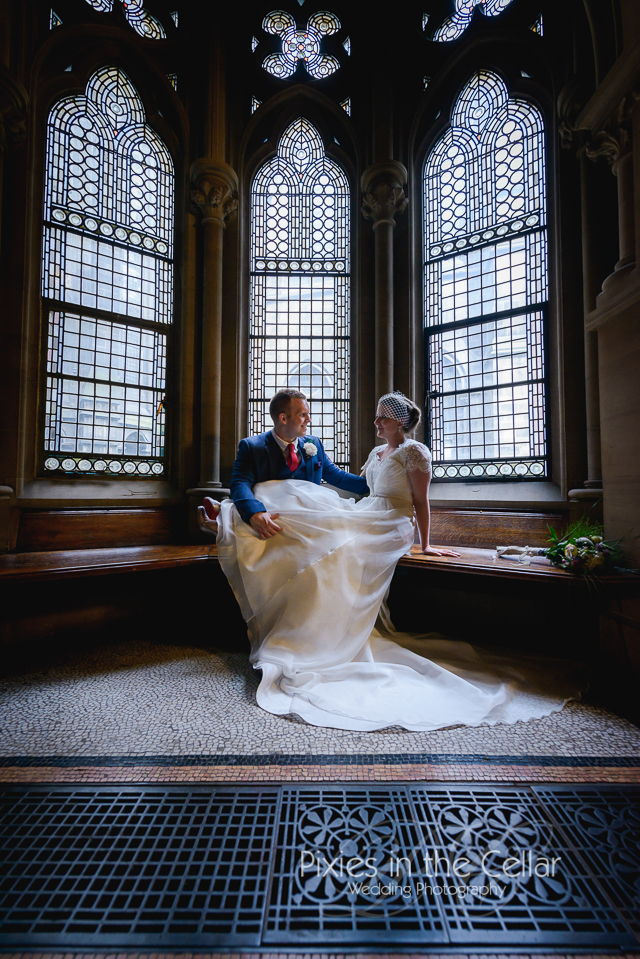Manchester Town Hall wedding portraits