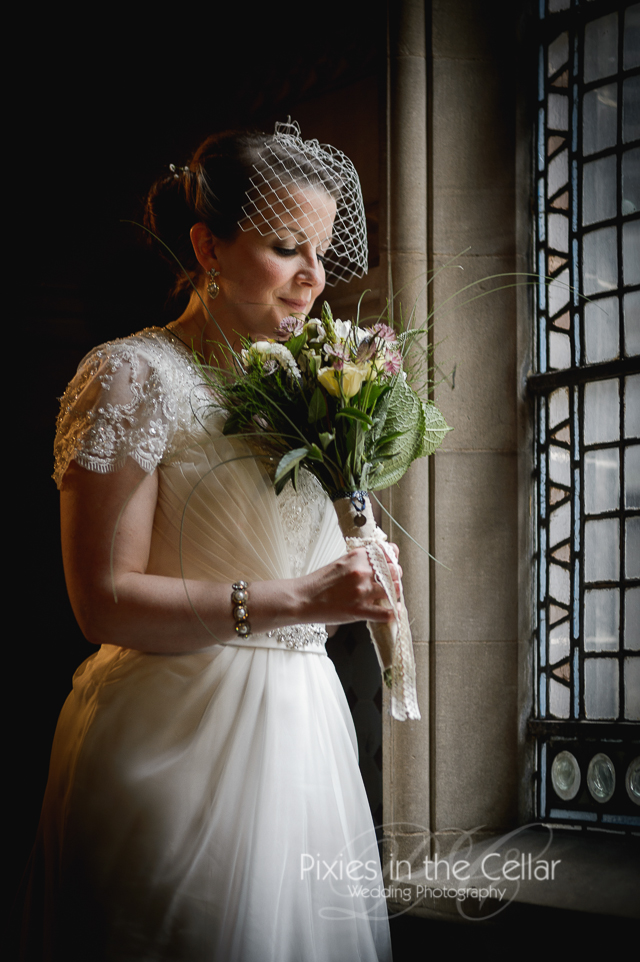 Manchester Town Hall bridal portrait