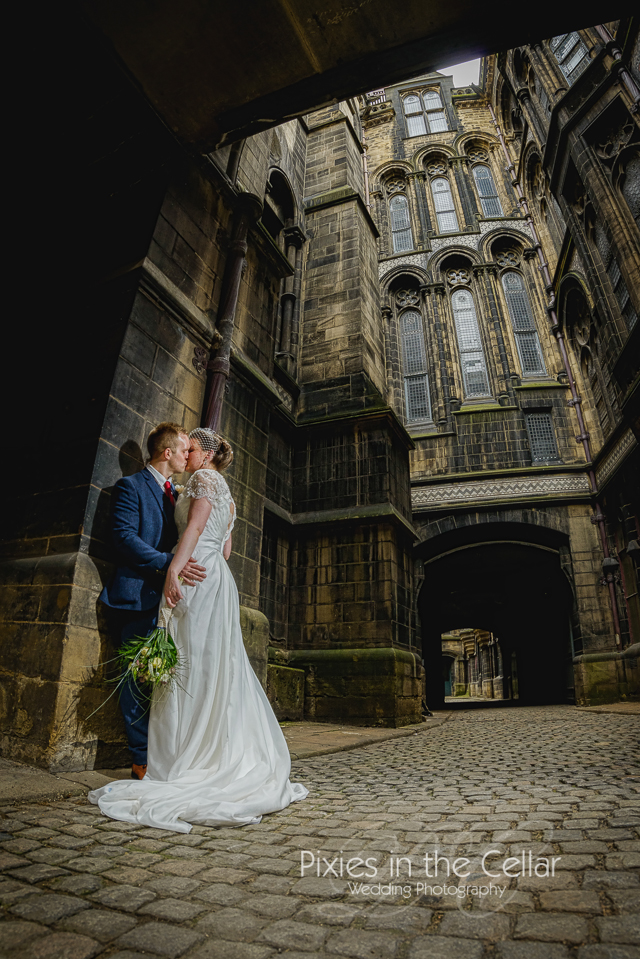 Manchester Town Hall wedding courtyard
