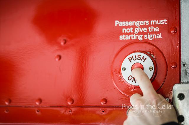 Wedding bus detail push button