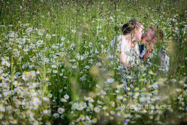 Wedding wild flower meadow