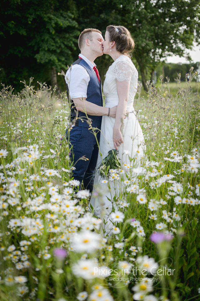 Field of Daises Wedding photograph