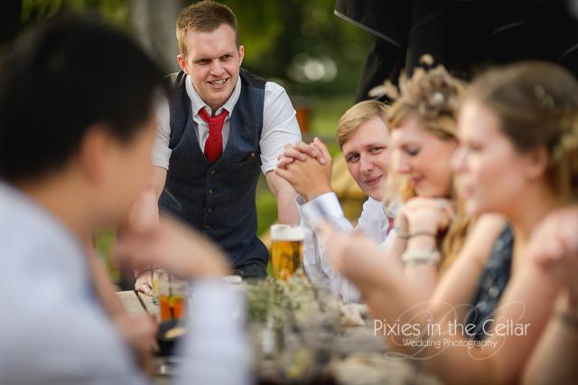 Summer pub wedding reception