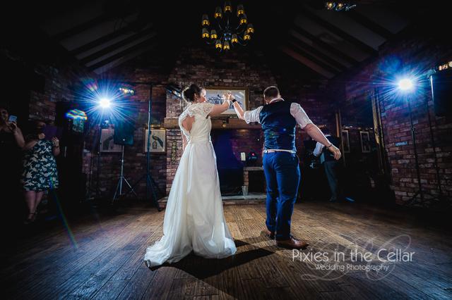 Wedding First Dance Black Swan Hollins Green