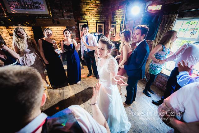 Black swan wedding dancing
