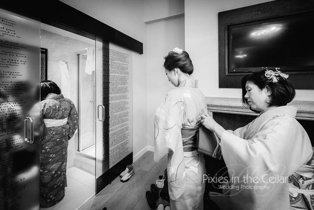 Kimono bridesmaids Wedding Mercure Greenwich
