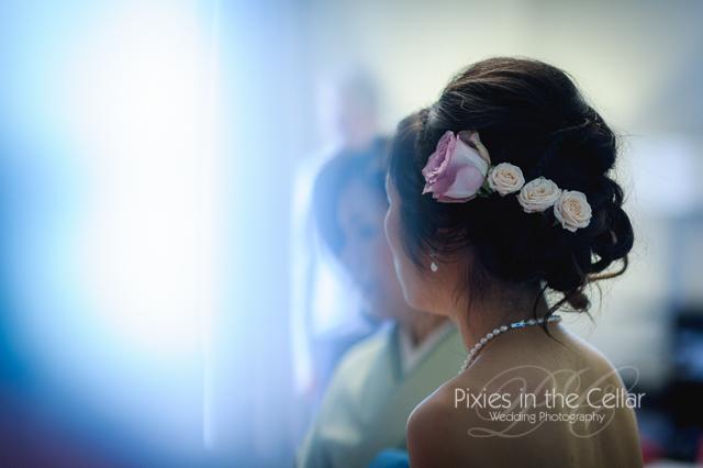 Greenwich Wedding Hair flowers -21