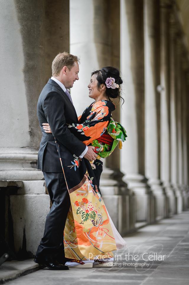 Kimono Japanese English Wedding -87