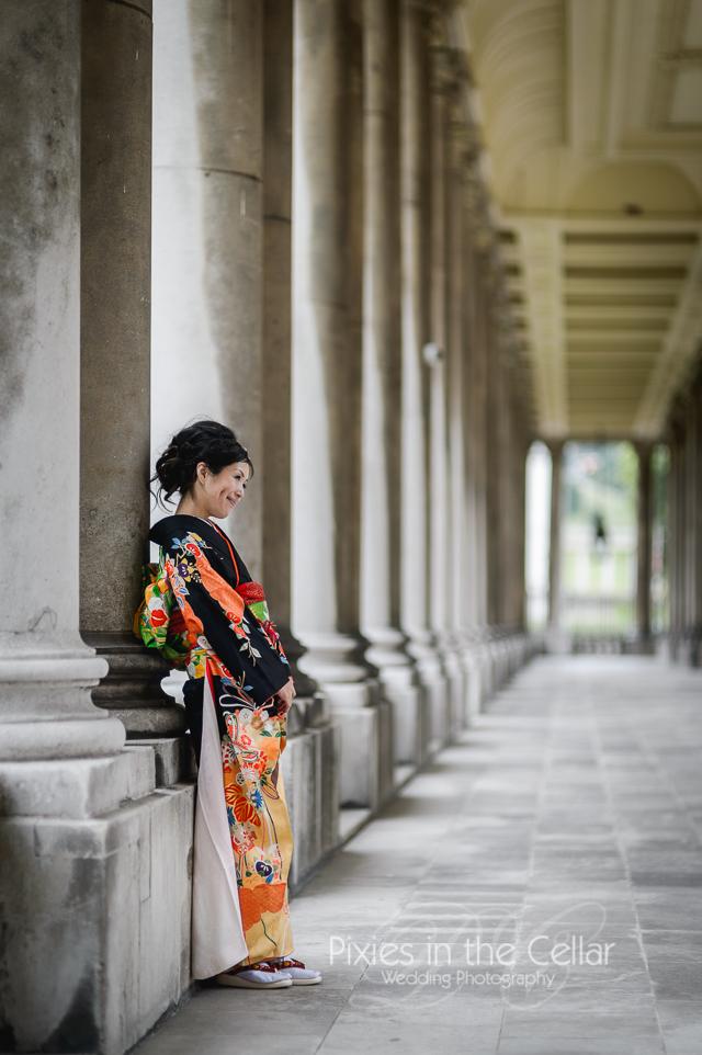 Kimono Japanese English Wedding -88