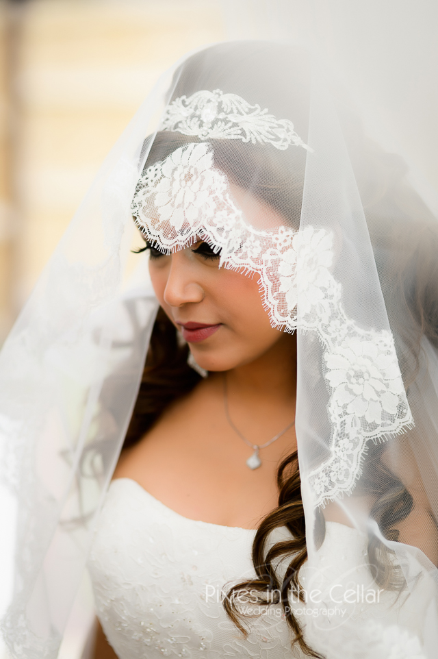 Midland Hotel Wedding lace veil