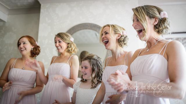 Bridesmaids wedding manchester photographers