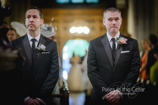 Waiting groom Manchester wedding