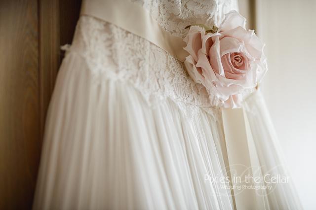 Blush pink wedding dress - Manchester photographers
