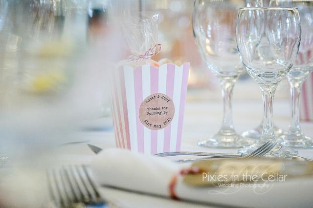 Popcorn wedding favour