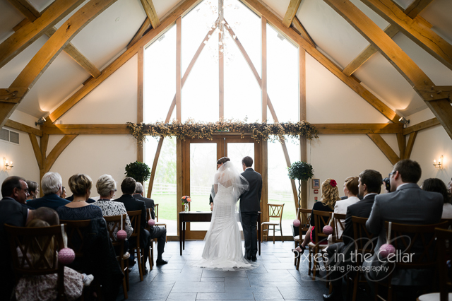 Mythe Barn Wedding ceremony