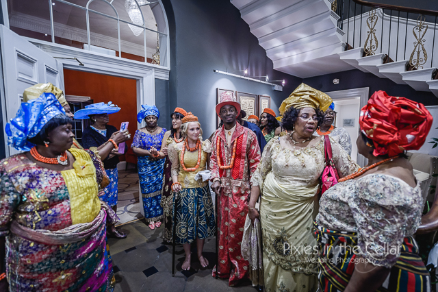 English Nigerian Wedding Manchester Photographer colourful