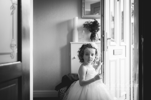Manchester wedding flower girl