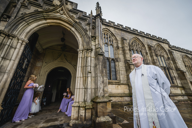 Vicar waiting for bride Greater manchester wedding