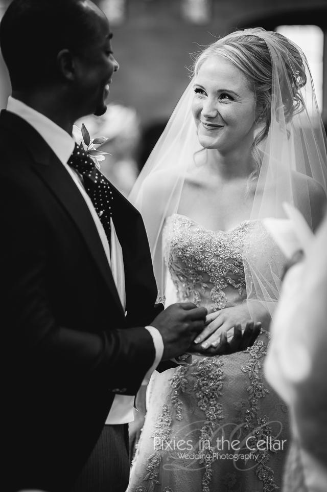 exchanging wedding rings harrogate wedding