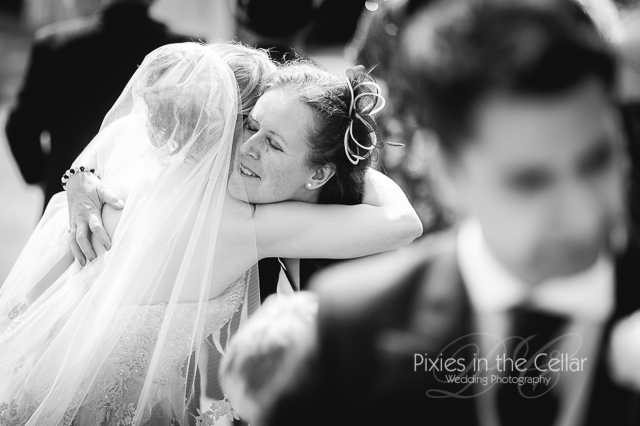 wedding congratulation hugs