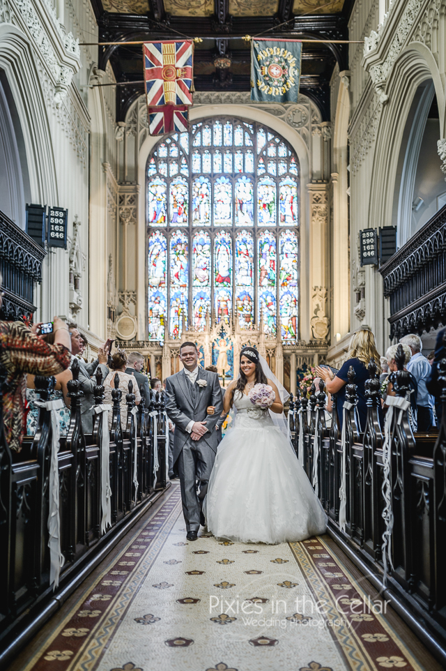 Just married Tameside wedding photography