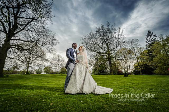 Rudding Park Wedding stormy sky
