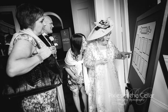 looking at wedding table plan