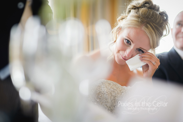 bride and tears