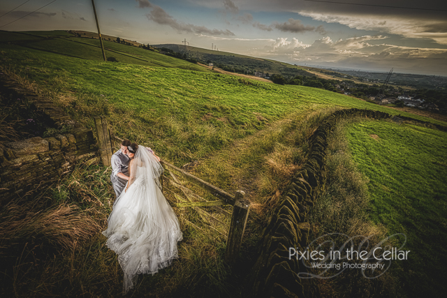 White Hart Lydgate Wedding landscape