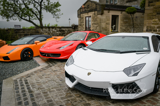 Sports cars at a Saddleworth Hotel Wedding